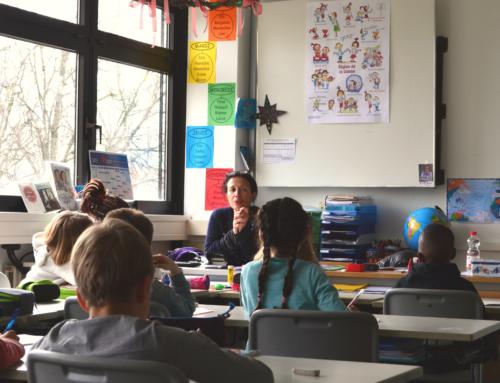 La romancière, Malika Ferdjoukh a enchanté nos élèves de l'école et du lycée de sa délicate présence.